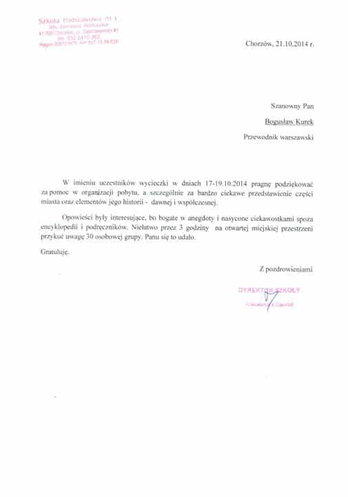 opinie przewodnik po Warszawie