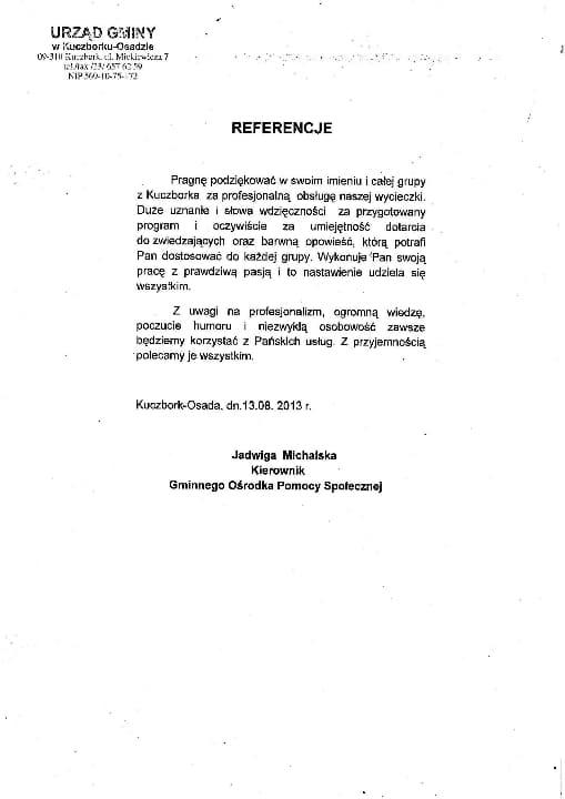 Przewodnik po Warszawie - referencje i opinie