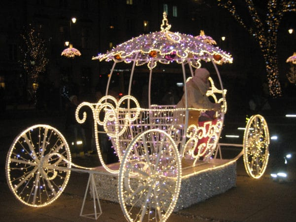Krakowskie Przedmieście w okresie Świąt Bożego Narodzenia